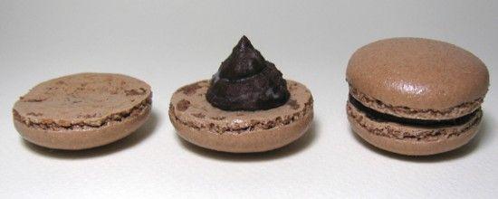 Macaron chocolat - noisette