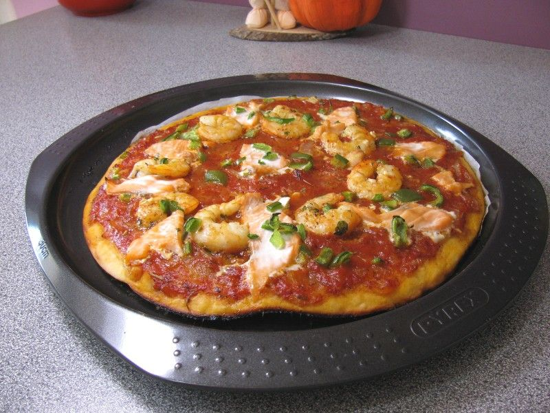 pizza sans gluten saumon