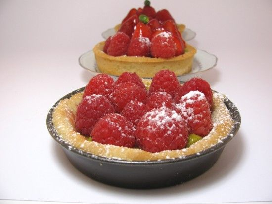 Tartelette fraise framboise sans gluten
