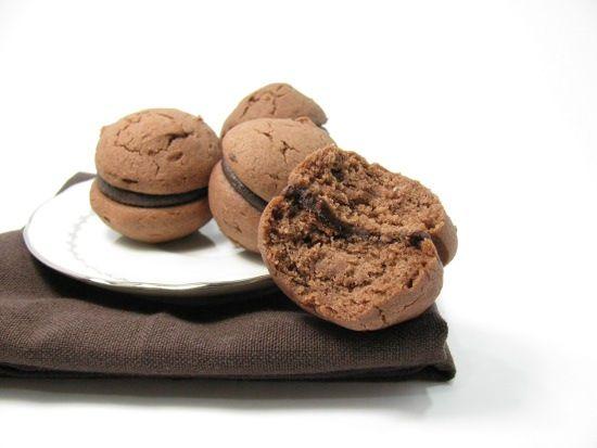 Whoopie chocolat cacahuette sans gluten