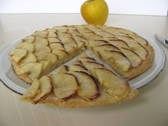 Tarte fine pommes sans gluten