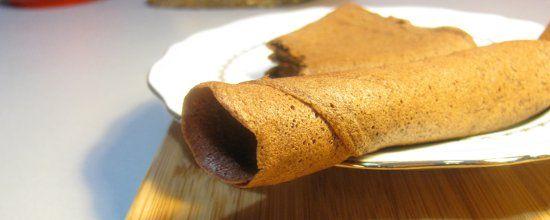 Crepe sans gluten et sans farine au chocolat titre