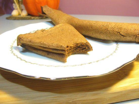 Crepe sans gluten et sans farine au chocolat