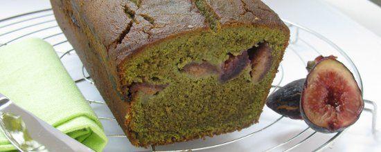 Cake sans gluten matcha figue titre