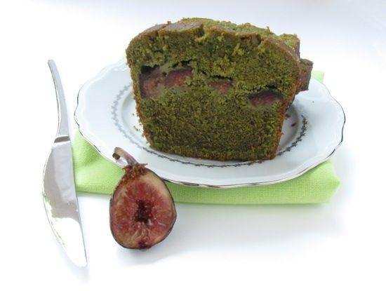 Cake sans gluten matcha figue