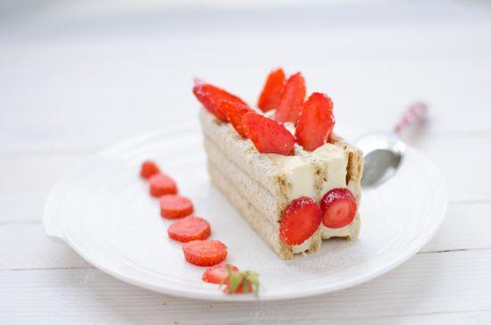 Recette de dacquoise aux fraises sans gluten