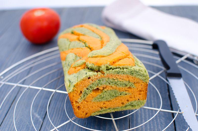 Cake sans gluten tomate pistou