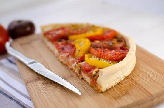 Tarte sans gluten à la tomate
