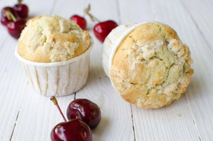 Recette de muffins crumble aux cerises sans gluten