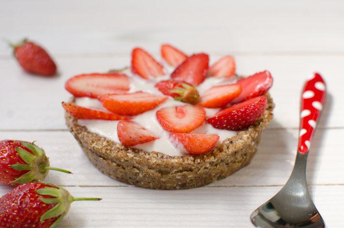 Fraisier sans gluten ni lactose en verrine