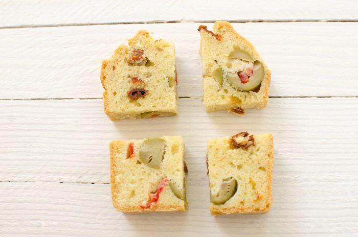 Cake salé sans gluten olive tomate