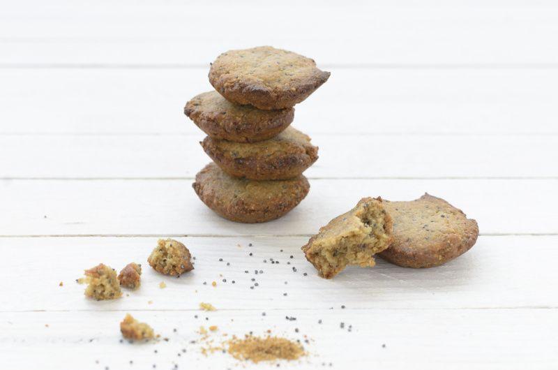 Recette de biscuits citron pavot sans gluten et sans sucre
