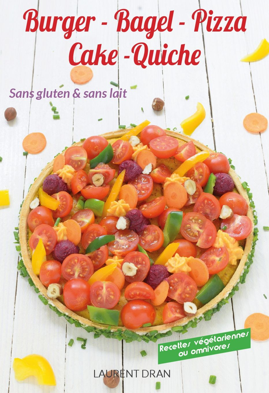 couverture livre burger bagel pizza sans gluten