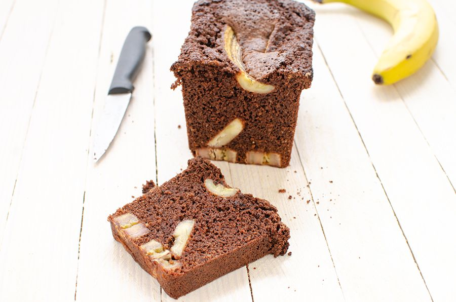 Cake chocolat et bananes caramélisées sans gluten