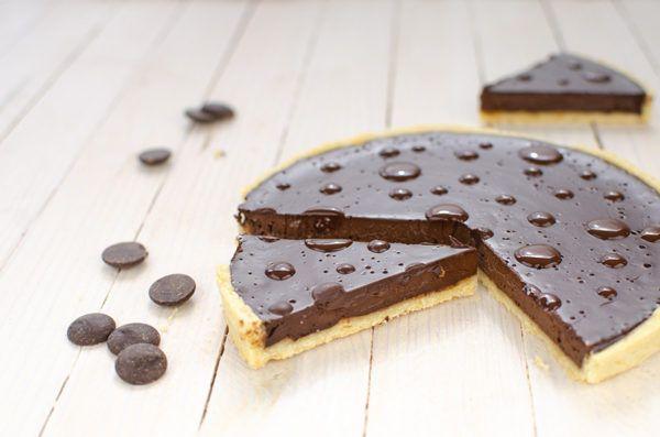 Tarte au chocolat sans gluten vraiment crémeuse